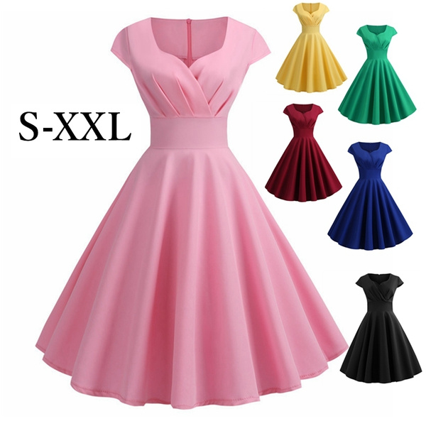 Fashion, chiffon, Dress, short sleeves