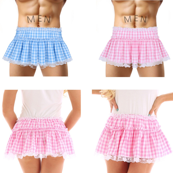Girl with skirt image Xs Xl Unisex Men Women School Girl Outfit Lingerie Sexy Plaid Pleated Mini Skirt Wish