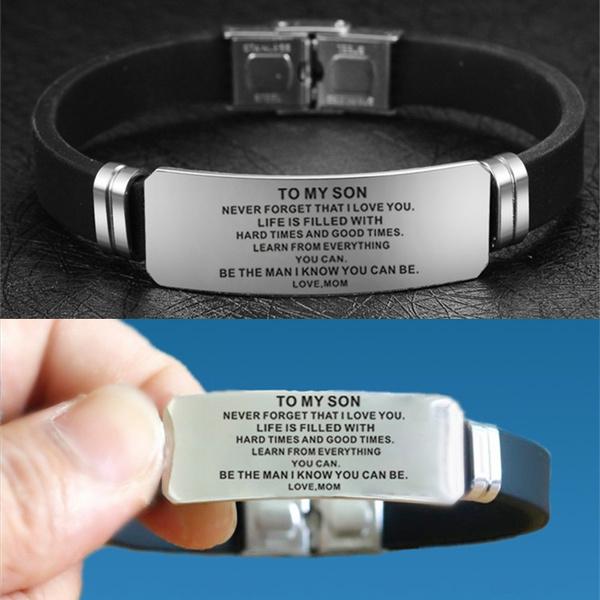 Titanium Steel Bracelet, Love, Family, Silicone