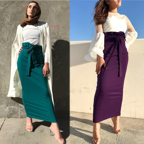 pencil, long skirt, pencil skirt, muslimdres