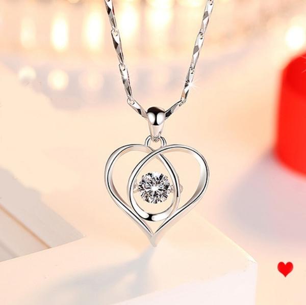 Sterling, Heart, fashion women, DIAMOND