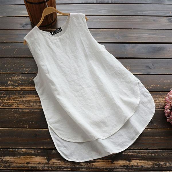 vesttop, Summer, cottonlinen, cotton tank top