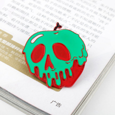 poisonapple, Apple, Pins, enamelbrooch