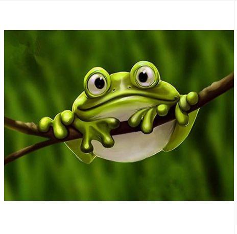 5D DIY Diamond Painting Frog Cross Stitch Kit \uff0cDiamond Embroidery Home Decor Gifts