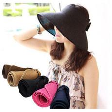 Foldable, Fashion, women hats, Spring