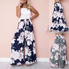 Women Pants, Summer, trousers, Floral print