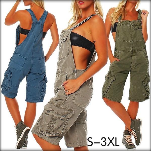 Summer, Women Rompers, Plus Size, jumpsuitsjean