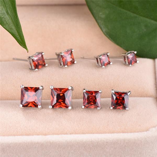 DIAMOND, Gemstone Earrings, Stud Earring, wedding earrings