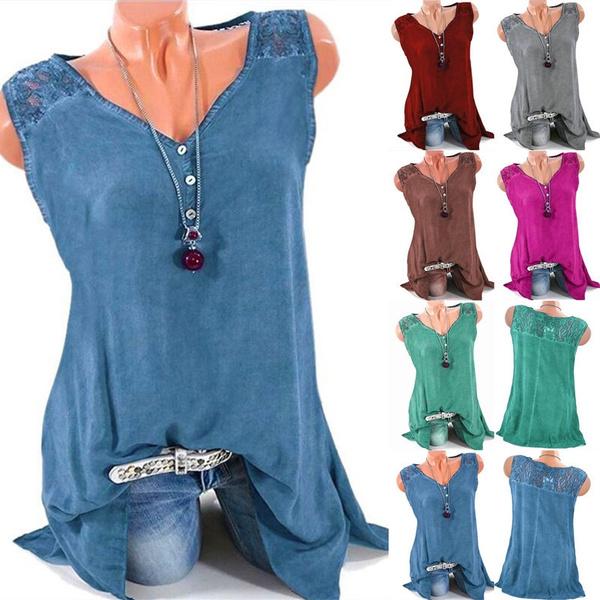 Women Vest, Plus Size, Tank, Lace