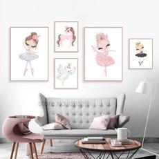 Ballet, crownswan, art, Home Decor