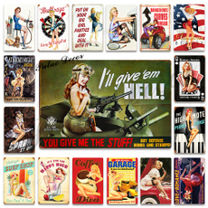 pinupgirlsign, Pins, vintagesign, Decor