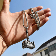 Stainless Steel, punk necklace, Chain, vikingnecklace
