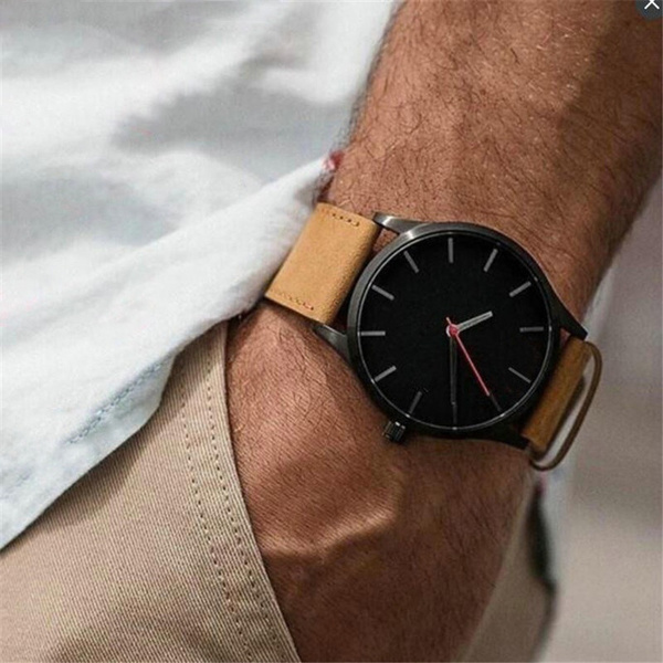 Fashion, leather, Watch, mensportwatch