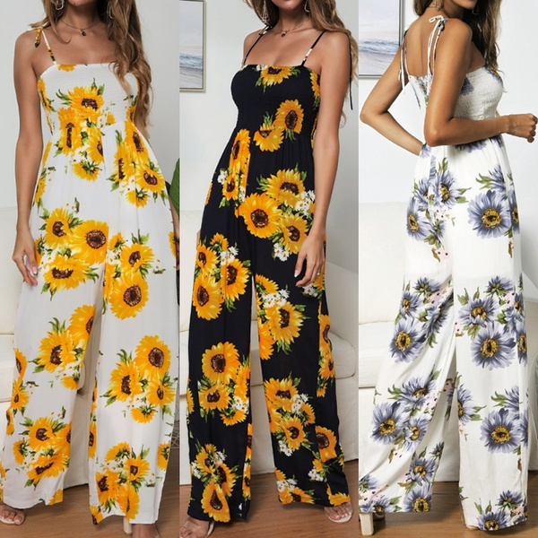 Floral print, Sunflowers, Casual, Floral