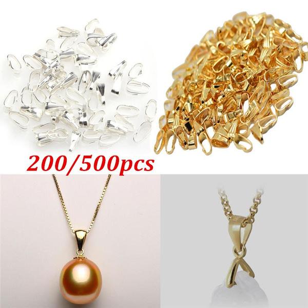 Copper, pendantconnector, silverbail, beadsampjewelrymaking