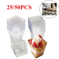 moussescup, Dessert, plasticclearcup, jelly