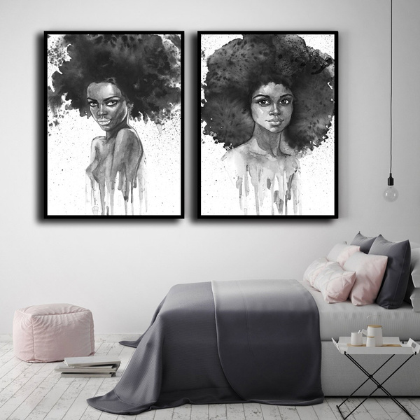 Large Canvas Art For Home Abstract Women Wall Art Black And White Women Canvas Print Figure Art Black And White Female Art For Walls