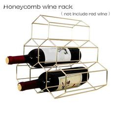 Iron, golden, winestorage, wroughtironwinerack