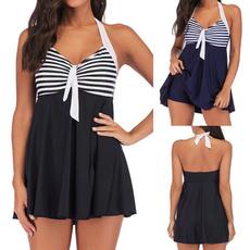 bathing suit, Plus Size, women beachwear, Halter