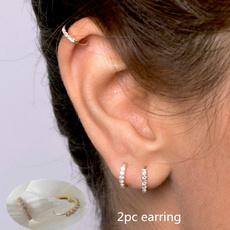 daintyearring, Steel, Hoop Earring, stainless steel earrings