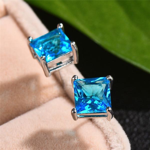 Blues, DIAMOND, Jewelry, Stud Earring