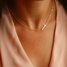 Stainless Steel, Cross necklace, Chain, titanium steel necklace