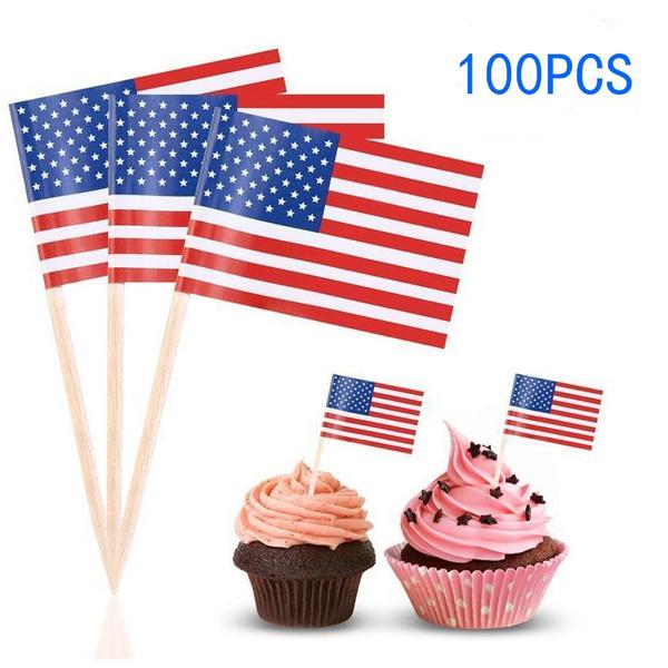 cupcakestick, miniflag, nationalflag, Cocktail