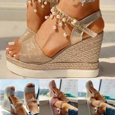 wedge, High Heel Shoe, Women Sandals, Womens Shoes