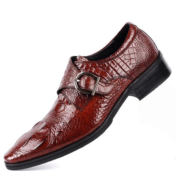 Men Business Designer Crocodile Leather