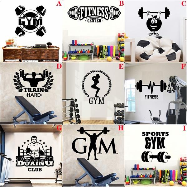 Wall Art, Home Decor, sportswallsticker, Gym