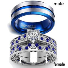 Couple Rings, Blues, tungstenring, wedding ring