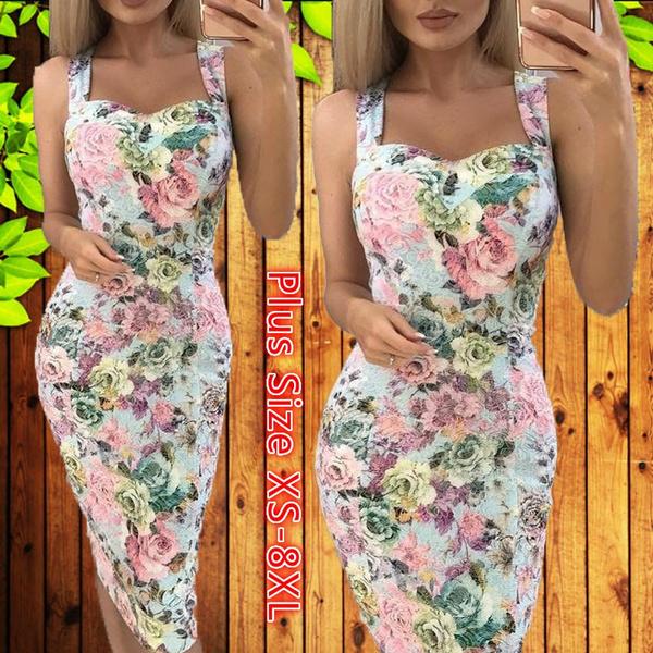 gowns, Club Dress, Plus Size, Floral print