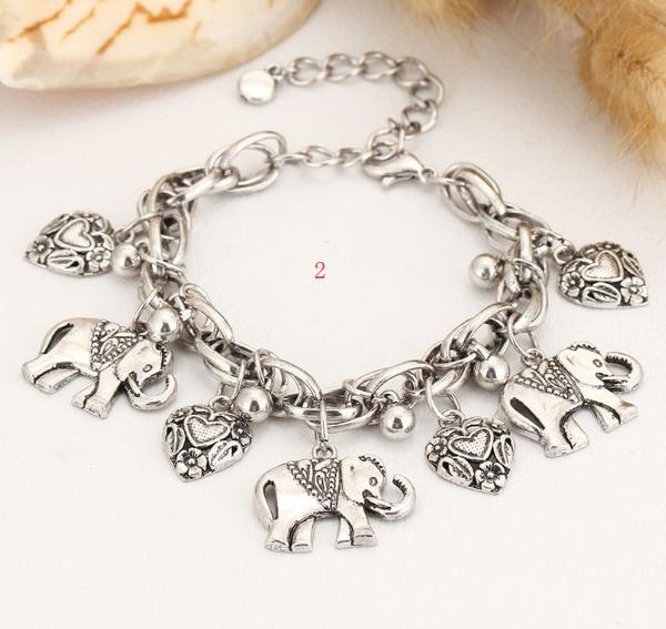 Charm Bracelet, Sterling, Turquoise, Fashion