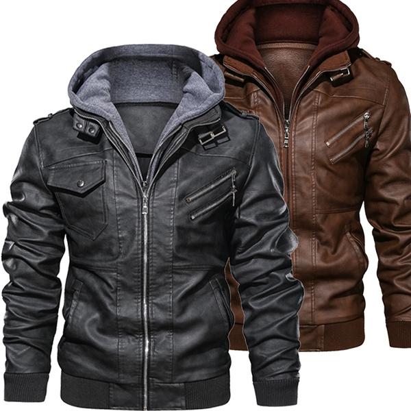 bikerjacket, Plus Size, Spring/Autumn, zipperjacket