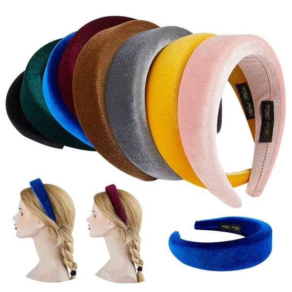 padded, Head Bands, velvet, headwear