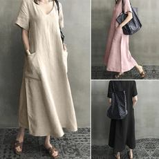 dressforwomen, short sleeve dress, Cotton, Shirt