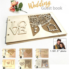 guestbookforwedding, Wedding Accessories, Wooden, Vintage