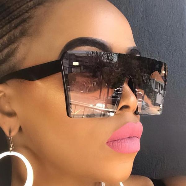 Square, UV Protection Sunglasses, Tops, uv