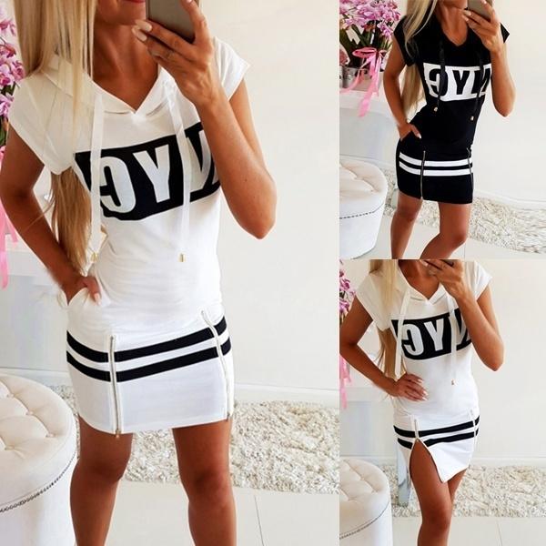 Summer, summer skirt, letter print, Shorts