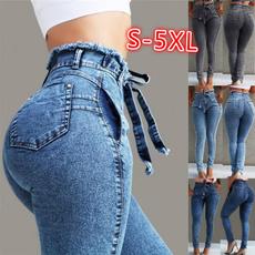 pencil, Plus Size, high waist, JeansWomen