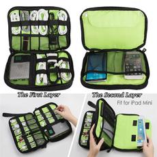 Home Supplies, Earphone, electronicorganizer, doublelayerbag