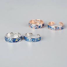 Sterling, goldrosering, Vans, Women Ring
