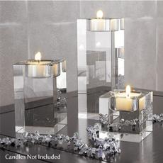 glasscandleholder, crystalcandleholder, Romantic, Candleholders