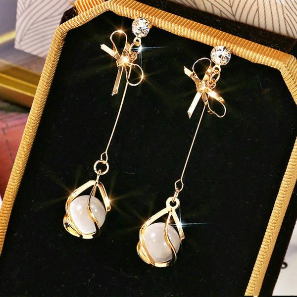 Sterling, bowknot, Fashion, Dangle Earring