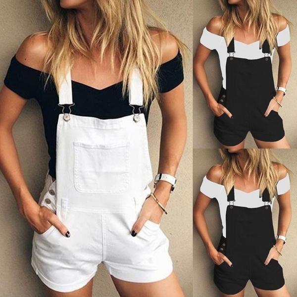 Summer, overalljean, Fashion, pants