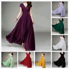 Summer, Plus Size, solidcolordre, chiffon