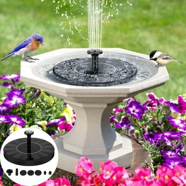 Mini, birdbathfountain, solarpoweredgadget, landscapingdecoration