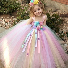 rainbow, Flowers, Princess, Tutu