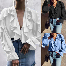 shirtsforwomen, Fashion, ruffle, chiffon