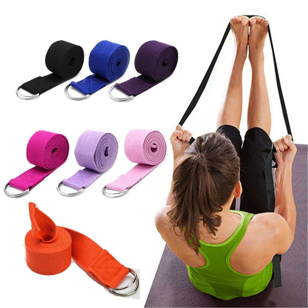Exercise Gym Rope Women Fitness Accessories D-Ring Belt Yoga Stretch Strap